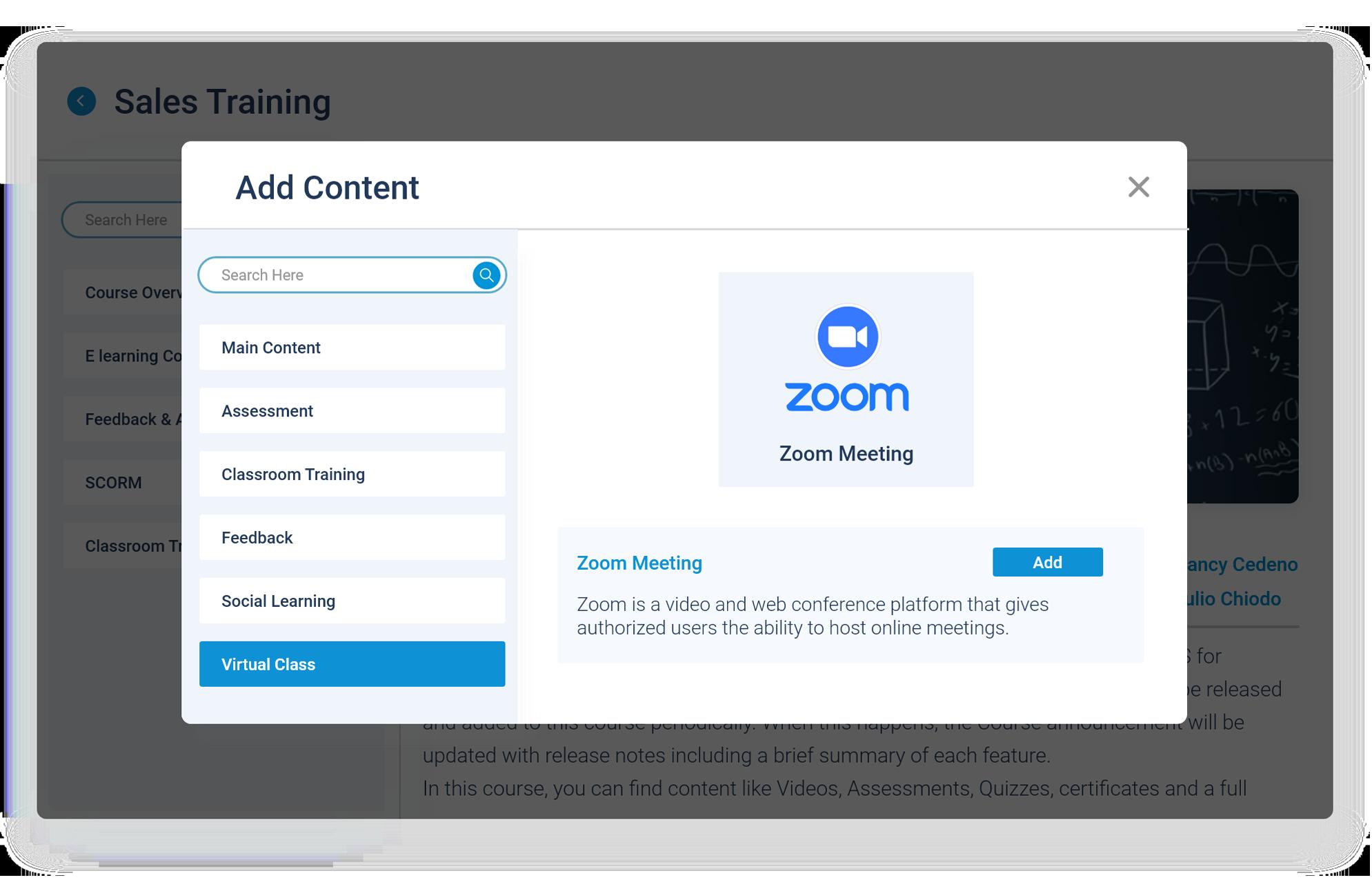 Paradiso LMS Zoom Screenshot- Launch Zoom