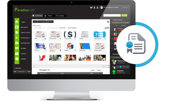 Virtual classroom elearning training platform